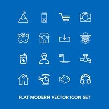 Modern, Simple Vector Icon Set...