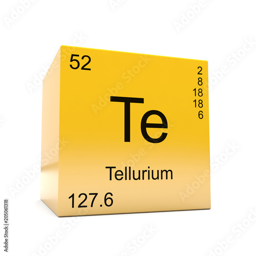 Tellurium Chemical Element Symbol From The Periodic Table Displayed
