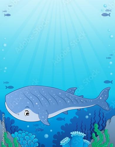 Foto op Canvas Voor kinderen Whale shark theme image 1