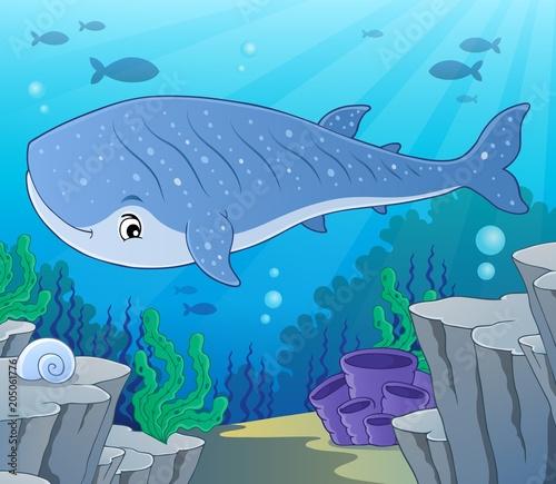 Staande foto Voor kinderen Whale shark theme image 2