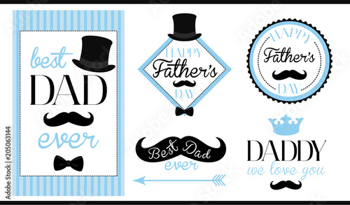 Set Of Vector Design Label Badge Sticker Frame Templates Text
