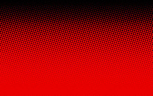 Black And Red Dotted Halftone Background.