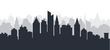 City Silhouette Land Scape. Ho...