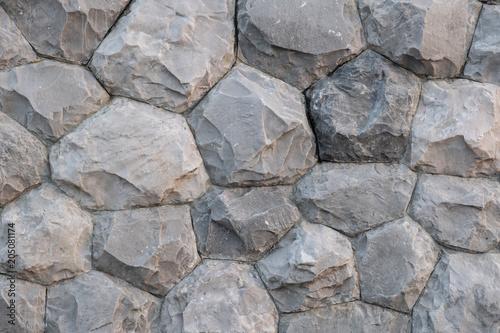 In de dag Stenen stone wall texture background