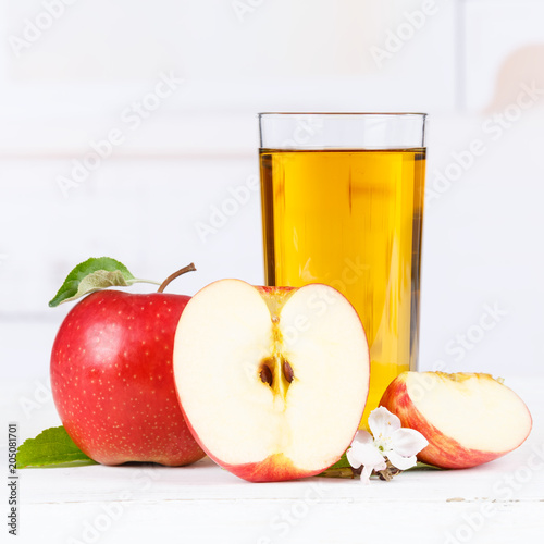 Papiers peints Apfelsaft Apfel Saft Äpfel Glas Quadrat Fruchtsaft