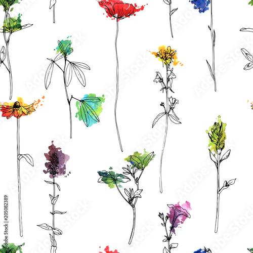 wektorowy-bezszwowy-wzor-z-ziele-i-kwiatami