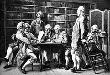 Literarische Sitzung Bei Diderot