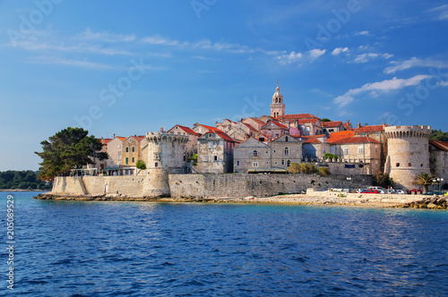 View of Korcula old town, Croatia Tablou Canvas