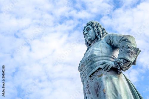 Fotografie, Obraz  Georg Friedrich Handel Statue in Halle Saale