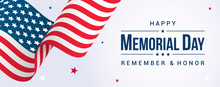 Memorial Day Banner Vector Ill...