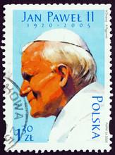 Postage Stamp Poland 2005 Pope...