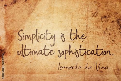Leinwand Poster simplicity is Leonardo