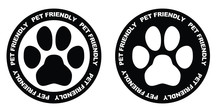 Pets Allowed Sign. Black And W...