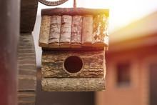 Wooden Birdhouse. House For Bi...