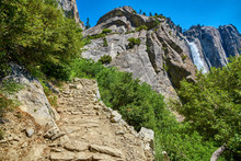 Upper Yosemite Falls In Yosemi...