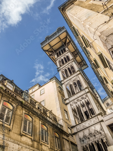 Lisbon City Elevator, Portugal Canvas Print