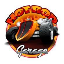 Vintage Hot Rod Logo For Print...