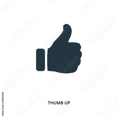 Thumb up icon in vector. Flat style icon design. UI. Vector illustration of thumb up icon.