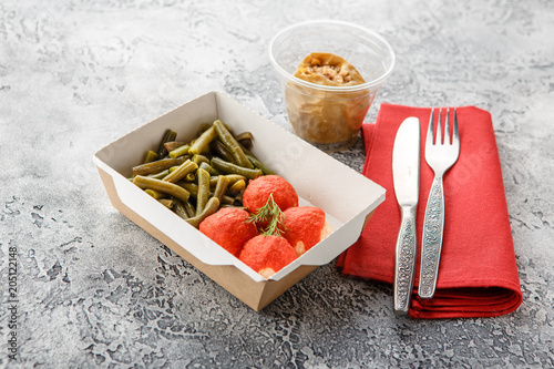 Poster Assortiment Cooked string beans