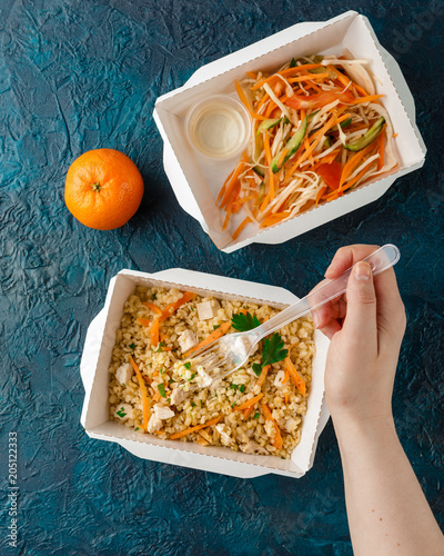 Foto op Aluminium Assortiment Healthy food delivery.