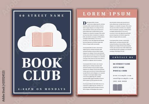 Book Club Flyer Layout