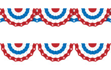 Bunting American Flags For Jul...