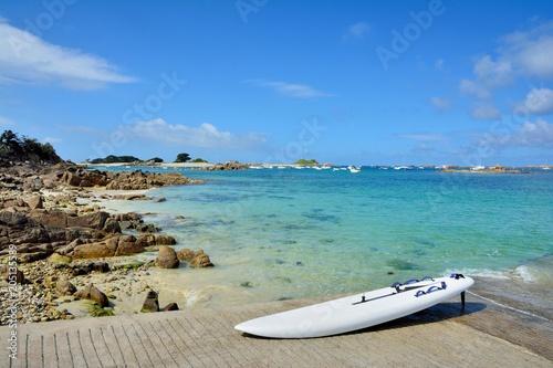 Fotografie, Obraz  Paysage de la côte bretonne à Penvénan Port-Blanc dans le Trégor