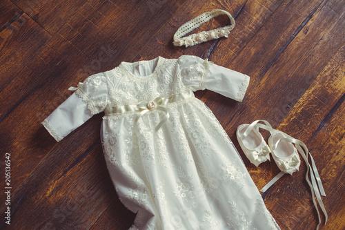 Fotografia, Obraz christening baby dress and shoes