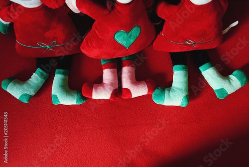 Photo Peluche natalizio rosso