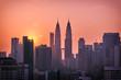 Beautiful sunrise landscape of aerial Kuala Lumpur skyline, Malaysia