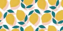 Vector Seamless Lemon Pattern,...