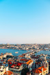 Istanbul city view from Galata tower in Turkey