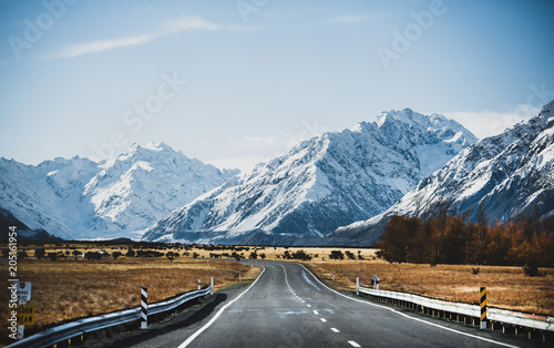 Fotobehang Oceanië Road to Mt. Cook