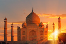 Taj Mahal At Sunset - Agra, In...