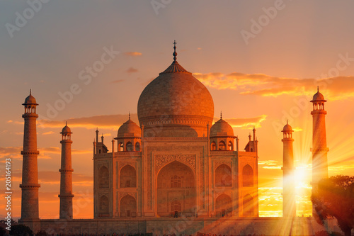 Fototapeta Taj Mahal at sunset - Agra, India