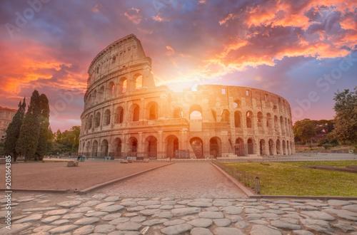 Obraz na plátne  Colosseum amphitheater in Rome