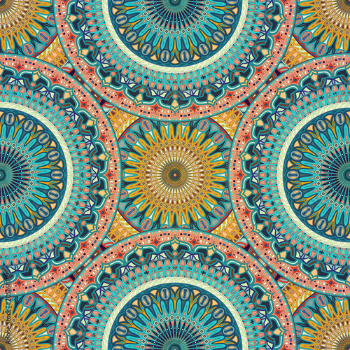 Seamless pattern mandala ornament Fototapet