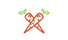 Line Art Carrots Cross