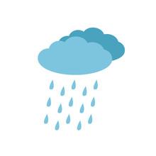 Rainy Weathet Icon, Rainy Clou...