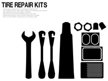 Silhouette Of Tire Repair Kits...