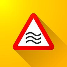 Flood Sign Concept On Yellow B...