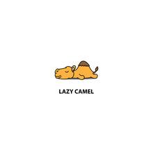 Lazy Camel Sleeping Icon, Logo...