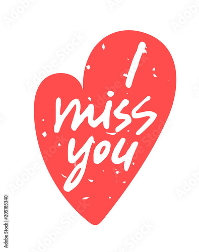 I miss you hand written lettering in a red textured heart shape i miss you hand written lettering in a red textured heart shape isolated on m4hsunfo