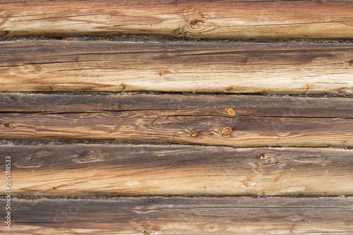 Papiers peints Bois Brown round wooden logs, texture, background, close-up, copy space