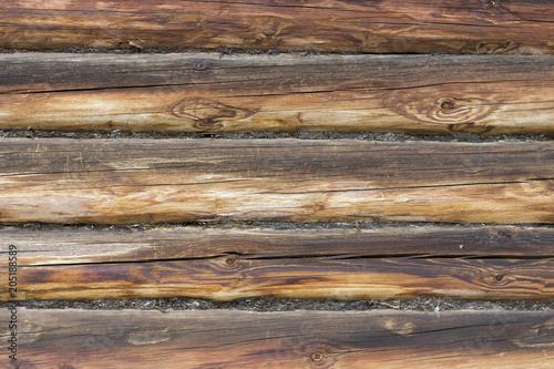 Papiers peints Bois Brown round wooden logs, texture, background, copy space
