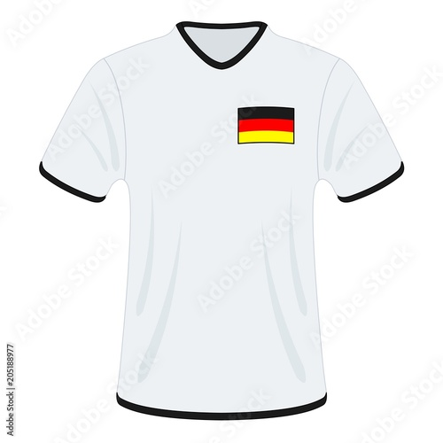 Fotomural Football t-shirt. Germany