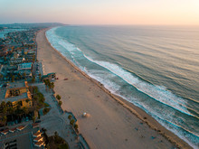 Pacific Beach And The Surrounding Mission Bay In San Diego California