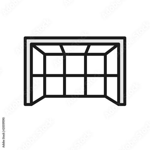 Fotografia, Obraz  goalpost icon. simple illustration outline style sport symbol.