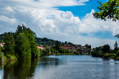 Foto op Canvas Rivier Vltava river in Czech republic
