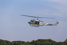Military Helicopter In Mission